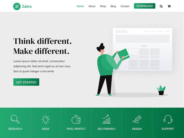 Zakra Demo Website